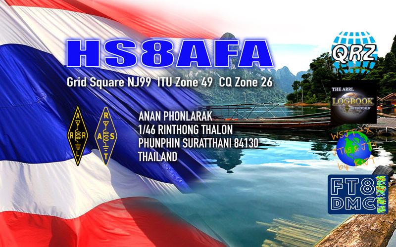 HS8AFA Anan Phonlarak, Phunphin, Surat Thani, Thailand