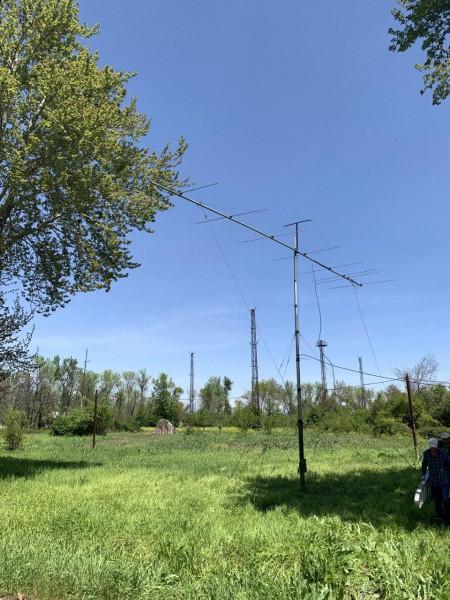 EY8MM Dushanbe, Tajikistan EME Antenna