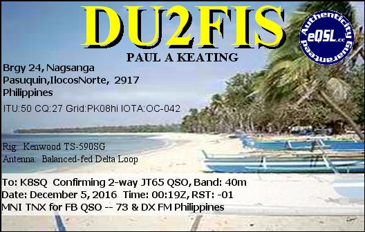 DU2FIS Nagsanda, Pasuquin, Ilocos Norte, Philippines