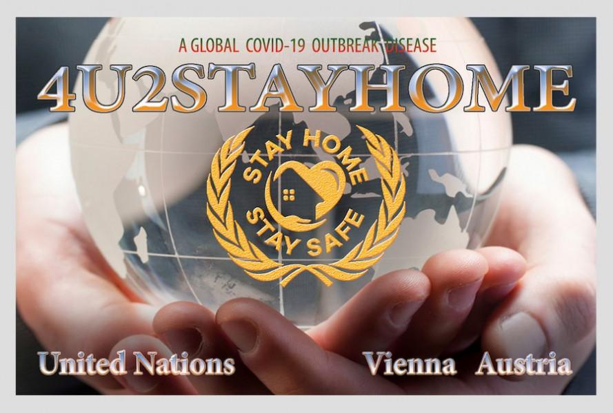 4U2STAYHOME Vienna, Austria QSL Card