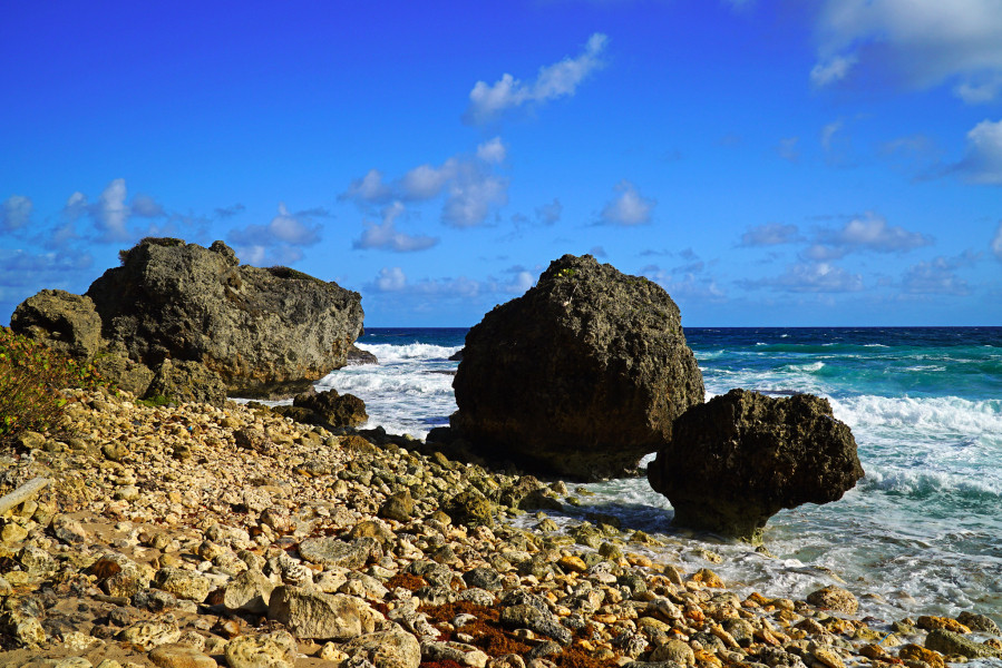 8P4JB Fancy rocks on Bathsheba beach, Barbados.