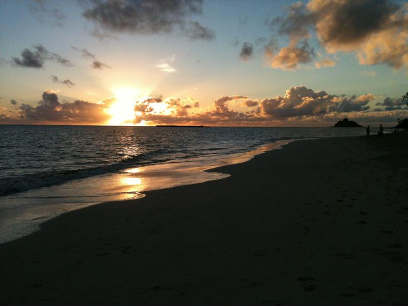 KH6RX Sunrise on Kailua Beach, Kailua, Oahu Island, Hawaii