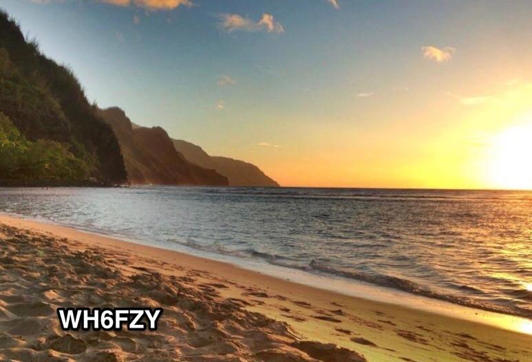 WH6FZY Kee Beach, Kilauea, Hawaiian Islands