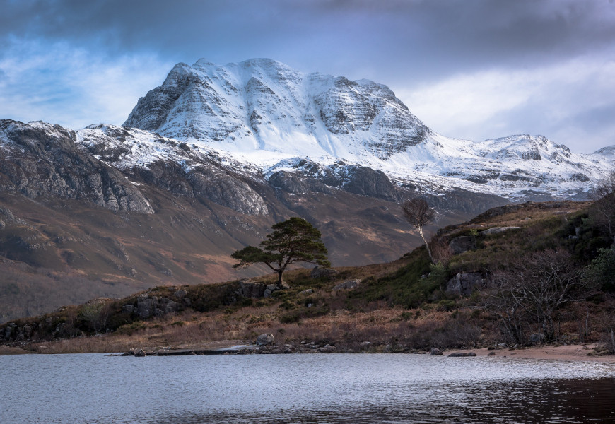 MM9I The Spear, Slioch from the shores of Loch Maree, Scotland