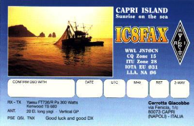 IC8FAX Capri Island QSL
