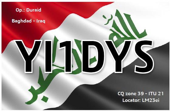 YI1DYS Baghdad, Iraq
