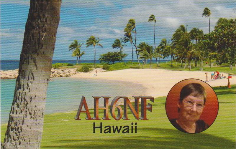 AH6NF Beverley Yuen, Honolulu, Oahu Island, Hawaii. QSL Card