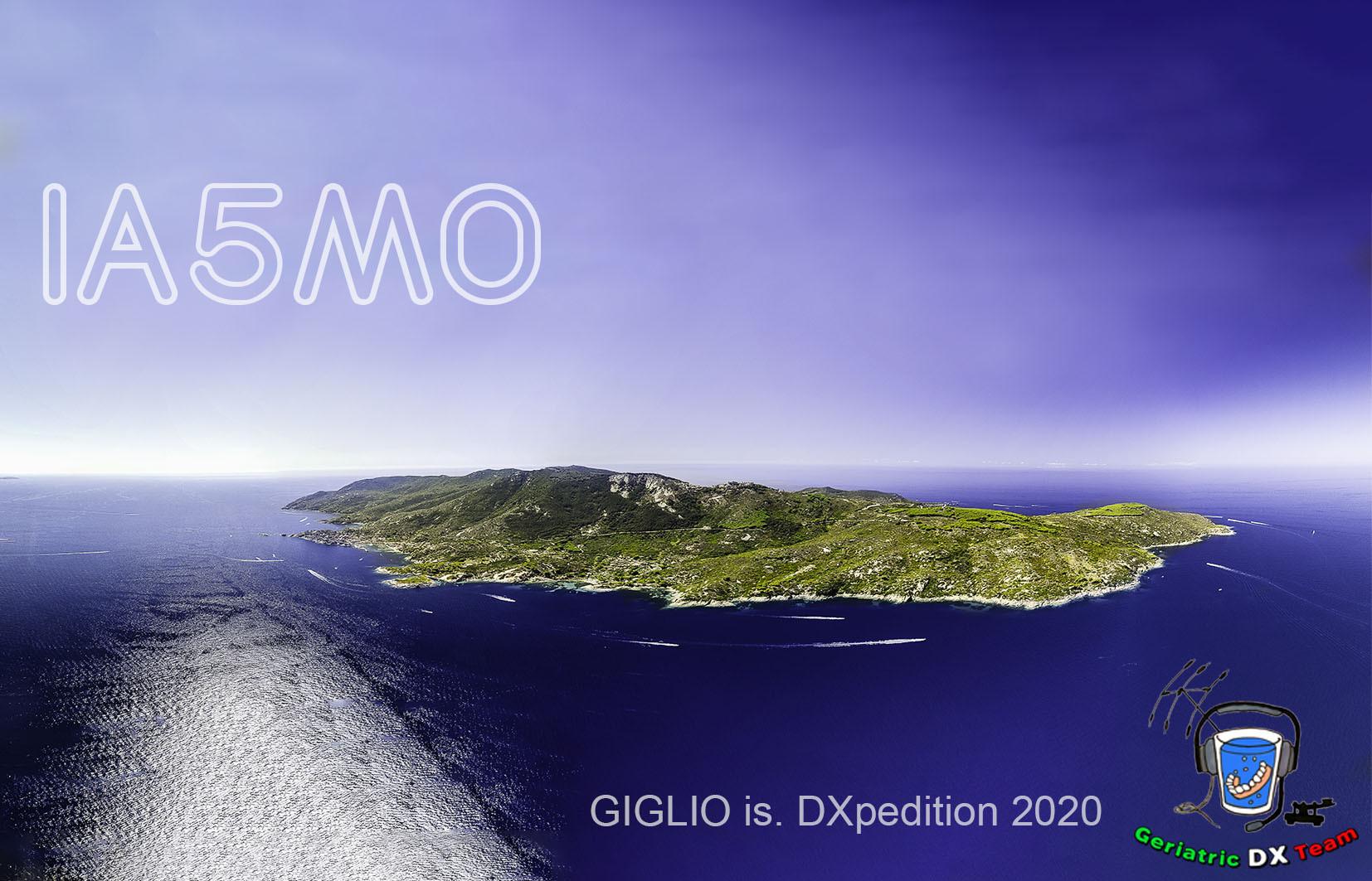 IA5MO Giglio Island QSL Card