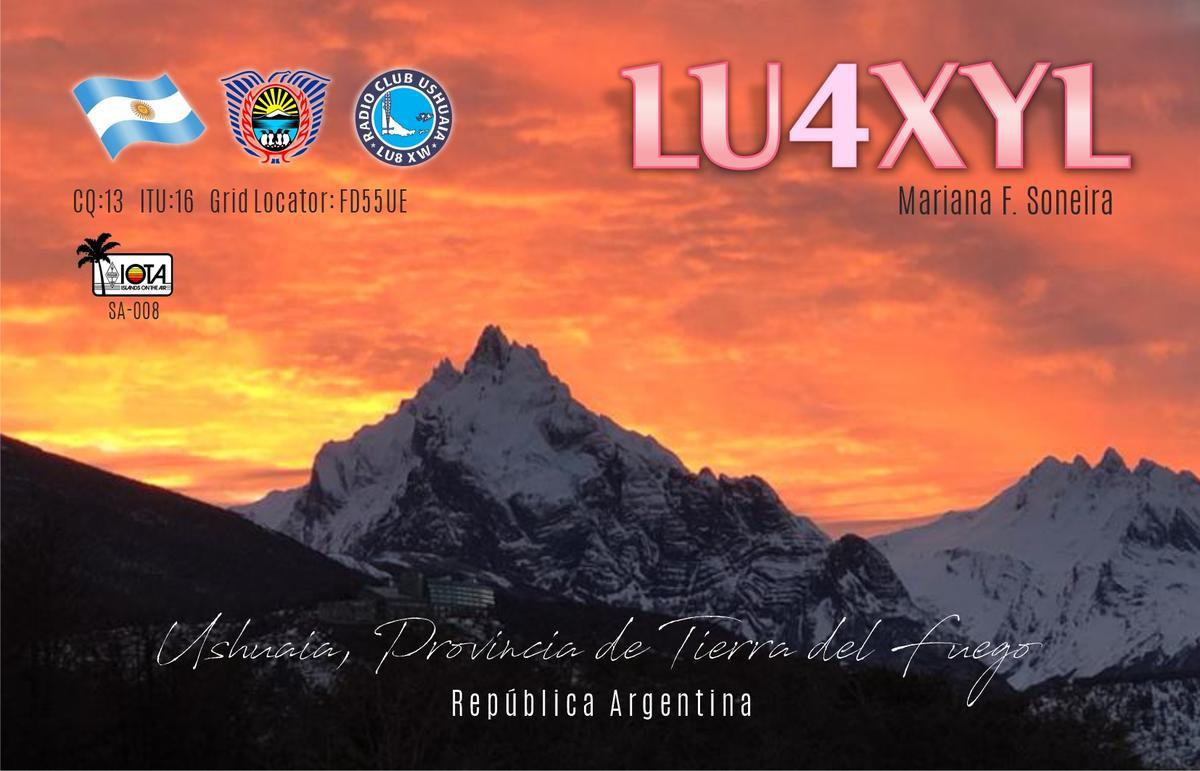 LU4XYL Mariana Soneira, Ushuaia, Tierra del Fuego, Argentina