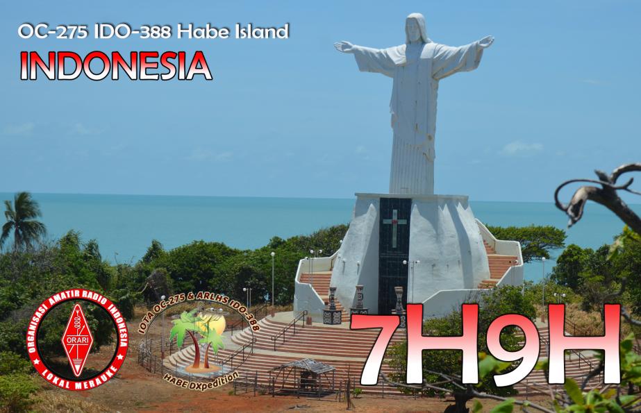 7H9H Habe Island, Indonesia QSL 1