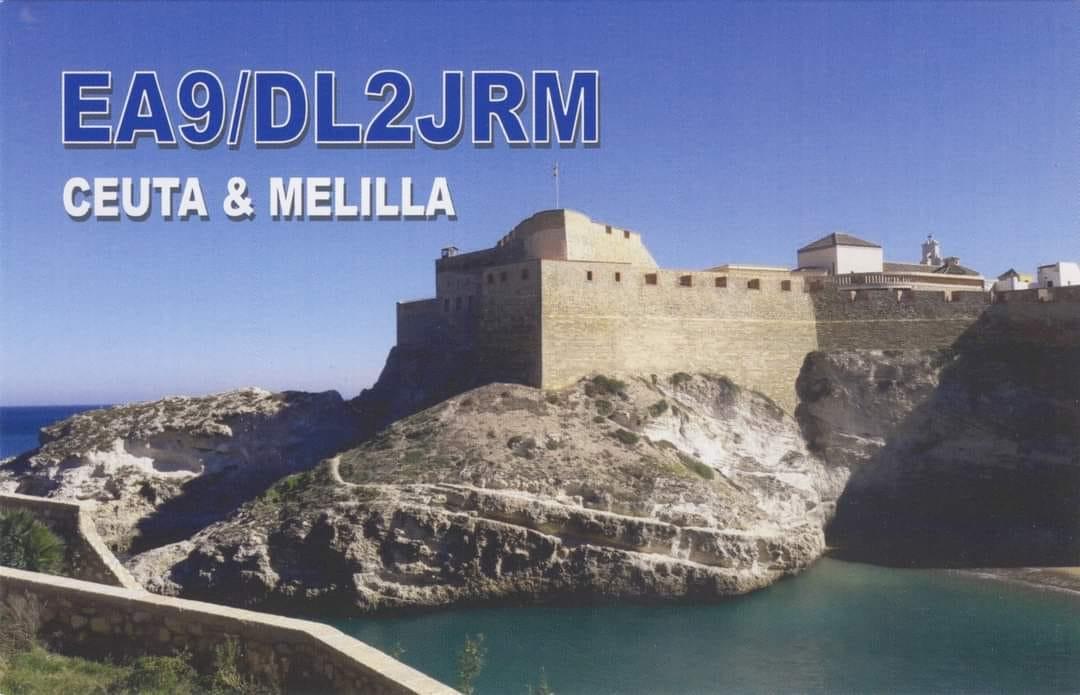 EA9/DL2JRM Ceuta and Melilla QSL Card