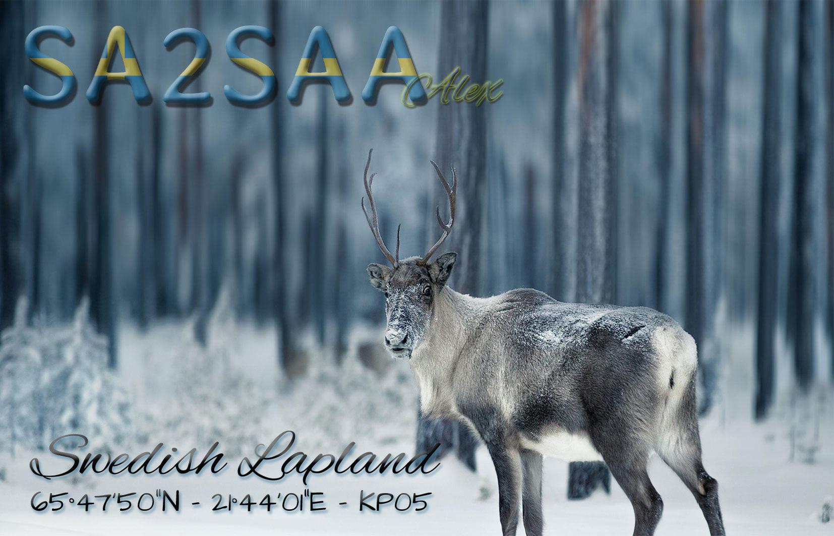 SA2SAA Boden, Sweden QSL Card