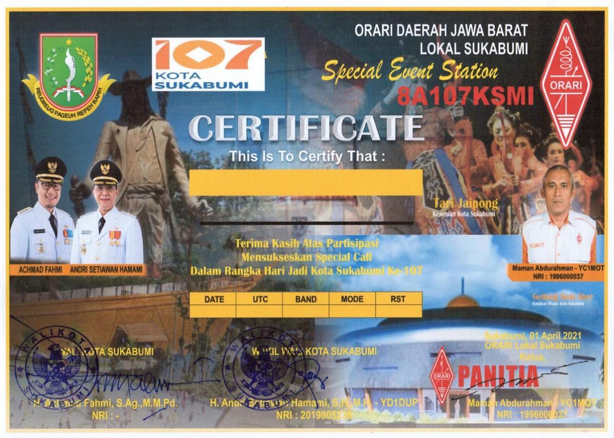 8A107KSMI Sukabumi, Indonesia