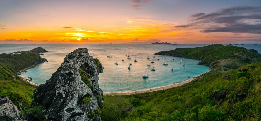 FJ/NN2DX Sunset Saint Barthelemy Island
