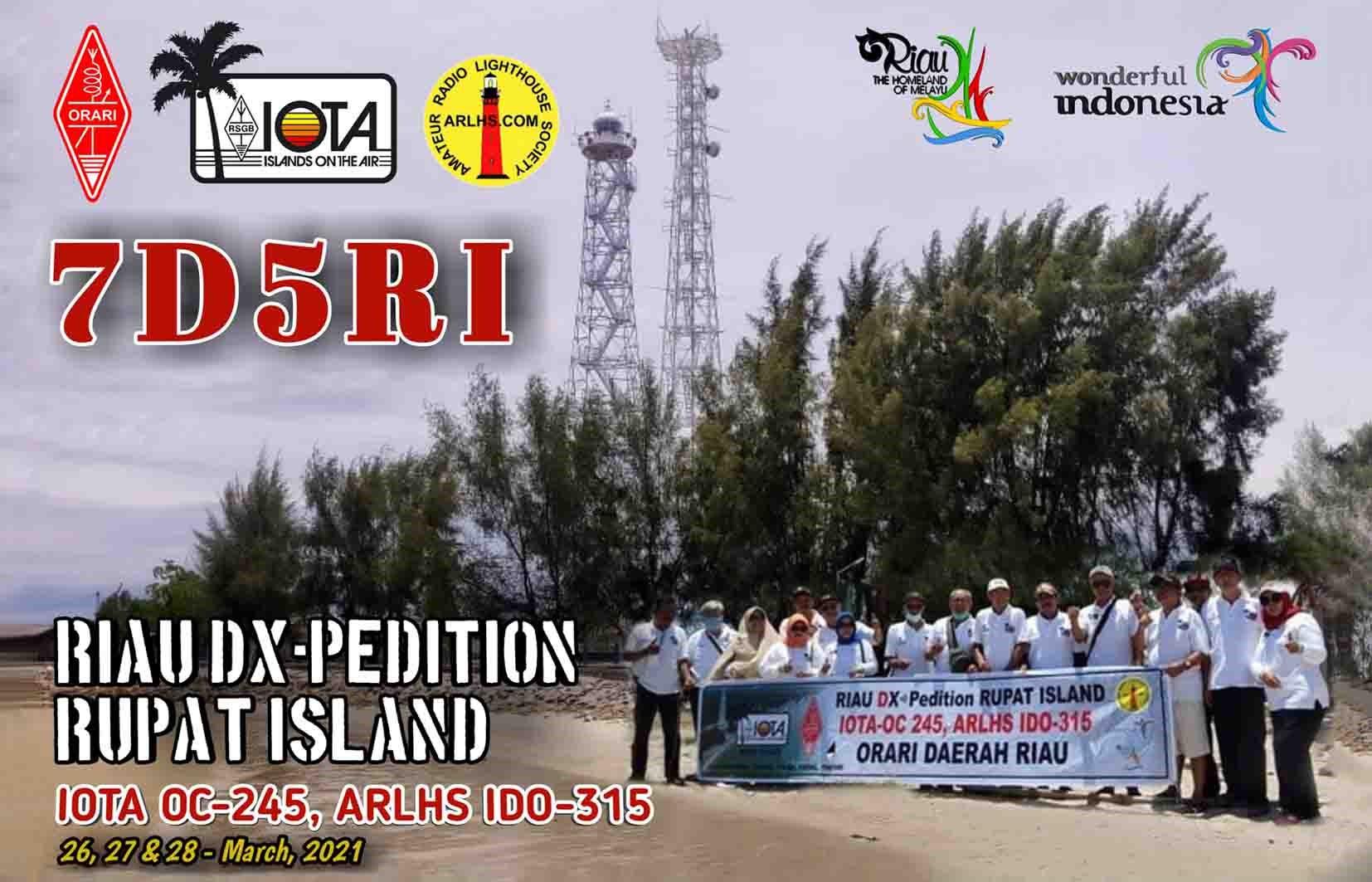 7D5RI Rupat Island QSL