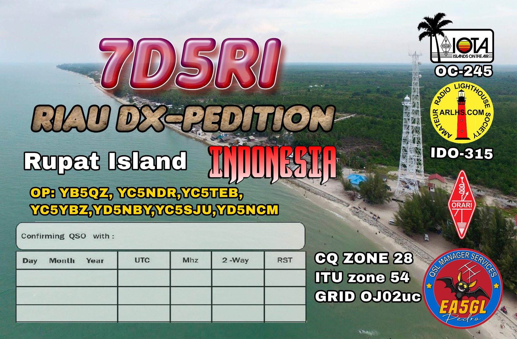 7D5RI Rupat Island QSL 2
