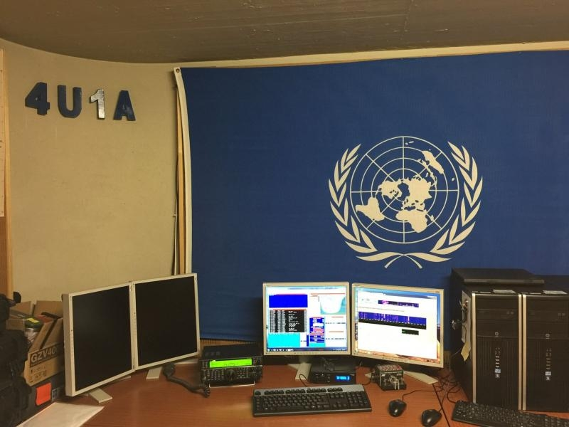 4U1A United Nations Amateur Radio DX Contest Station August 2017