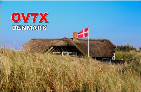 OV7X Hjarno Island QSL Card