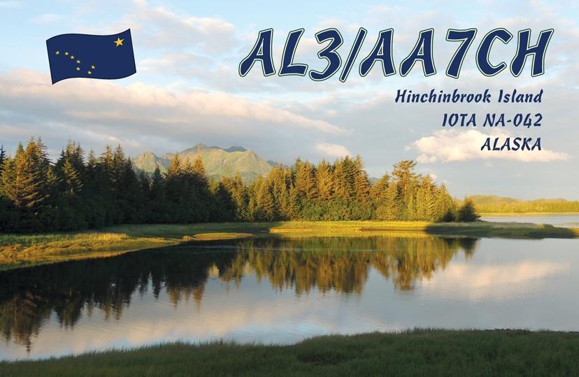 AL3/AA7CH Hinchibrook Island QSL