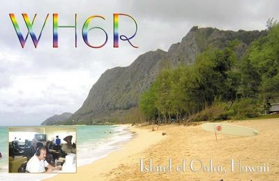 WH6R Eran Agmon, Oahu Island Hawaiian Islands QSL