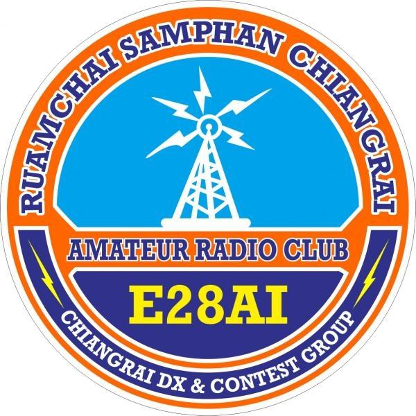 E28AI Ruamchai Samphan Chiangrai Amateur Radio Club Logo