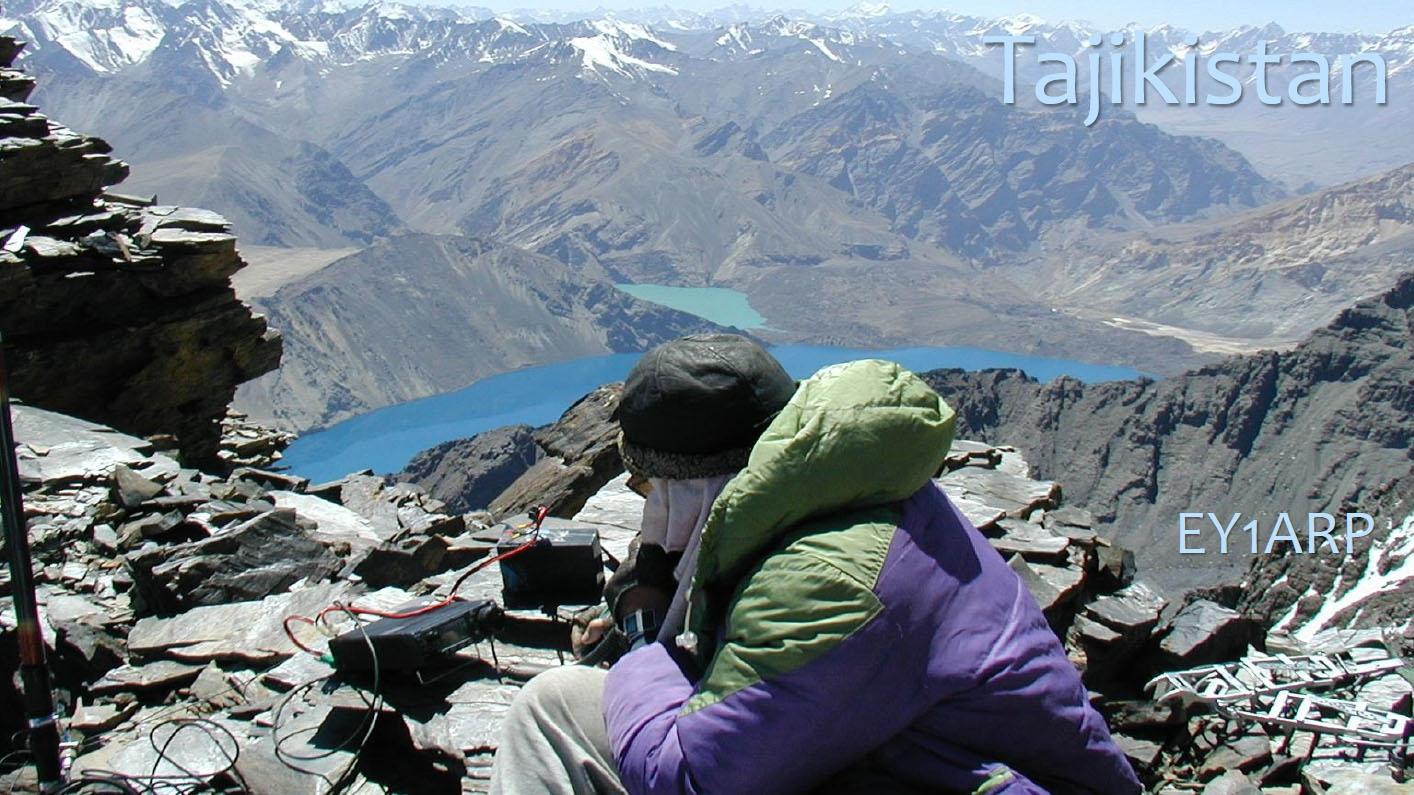 Tajikistan EY1ARP QRV Amateur Radio Peak