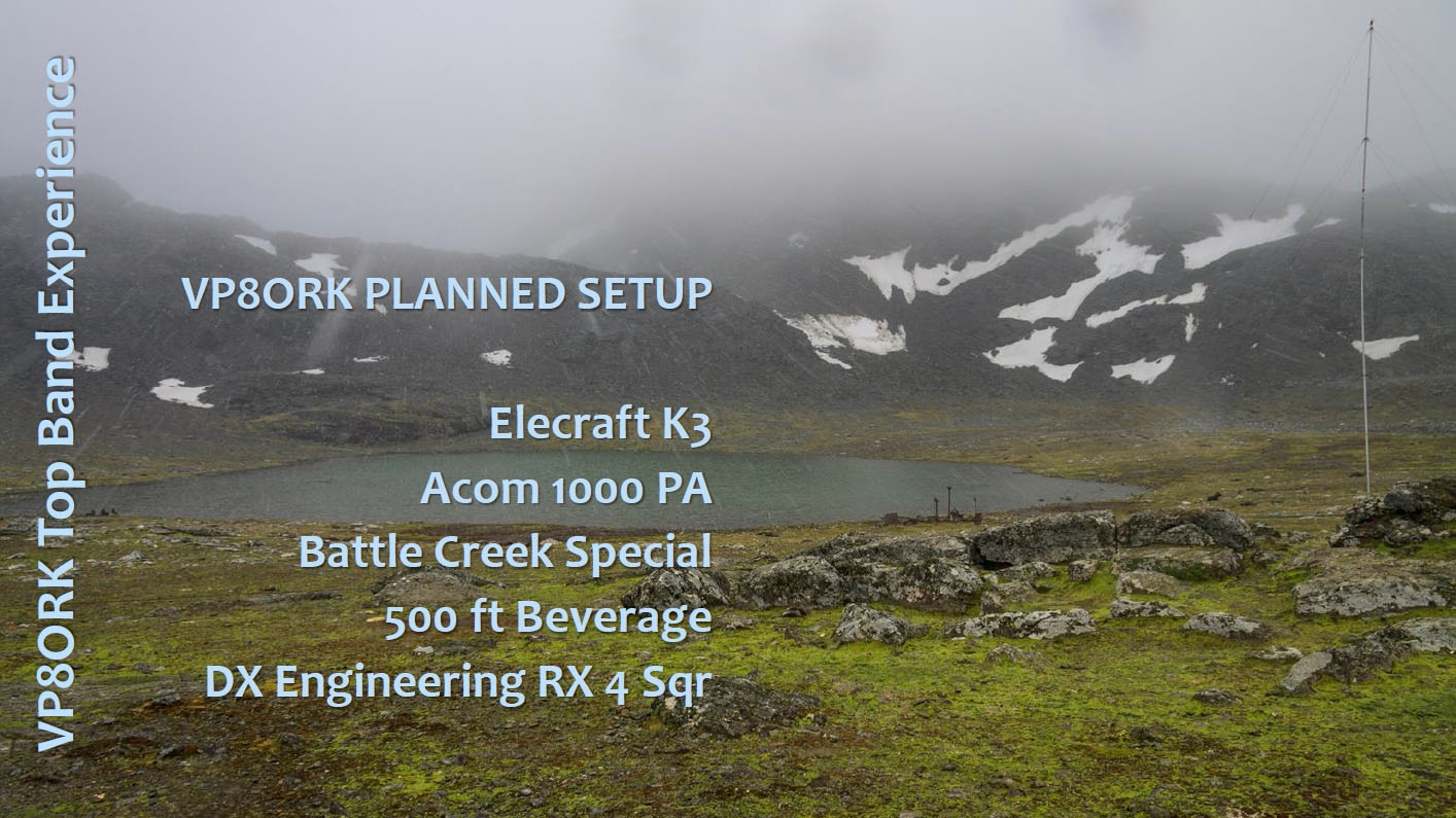 VP8ORK South Orkney Islands DX Pedition Planned setup