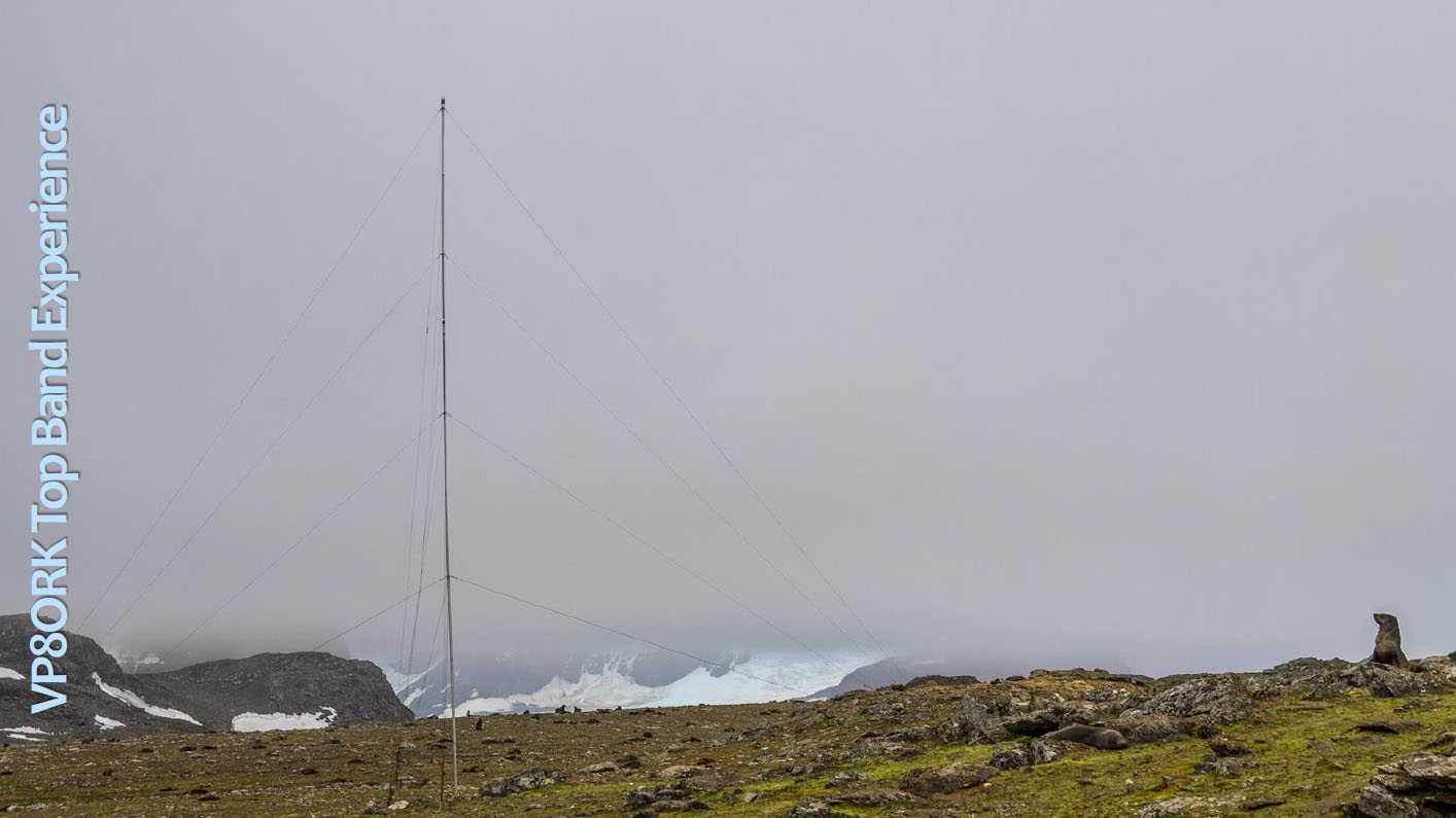 VP8ORK South Orkney Islands DX Pedition Vertical antenna