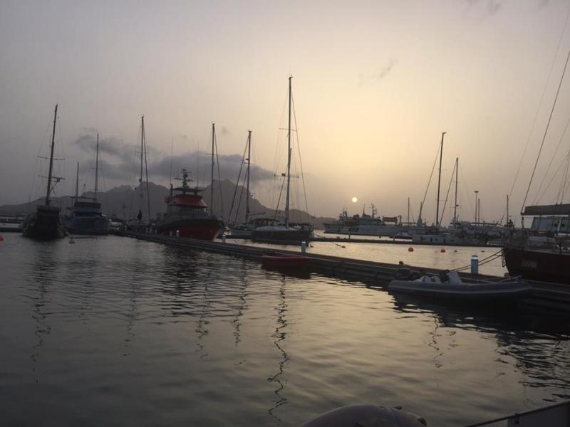 Sunset, Mindelo Beach, Sao Vicente Island, Cabo Verde, Cape Verde.