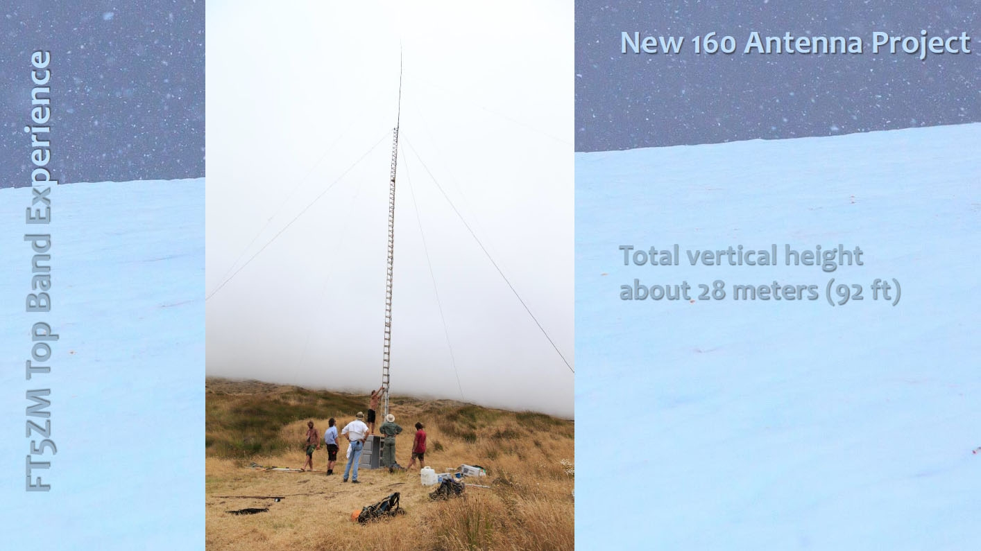 FT5ZM Amsterdam Island Total Vertical height 28m