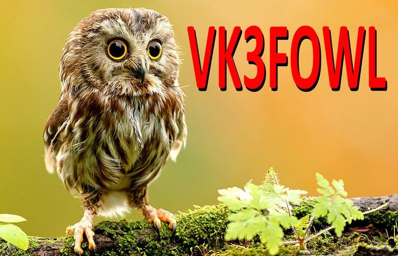 VK3FOWL Australia QSL