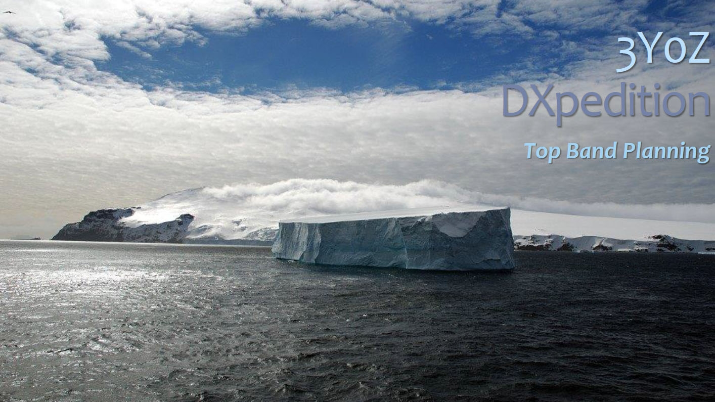 3Y0Z Bouvet Island DX Pedition Top Band planning