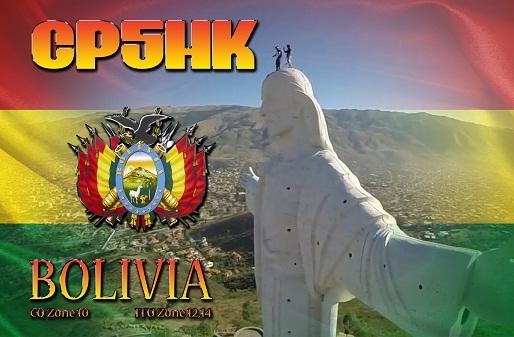 CP5HK Cochabamba Bolivia QSL Agustin Iturricha