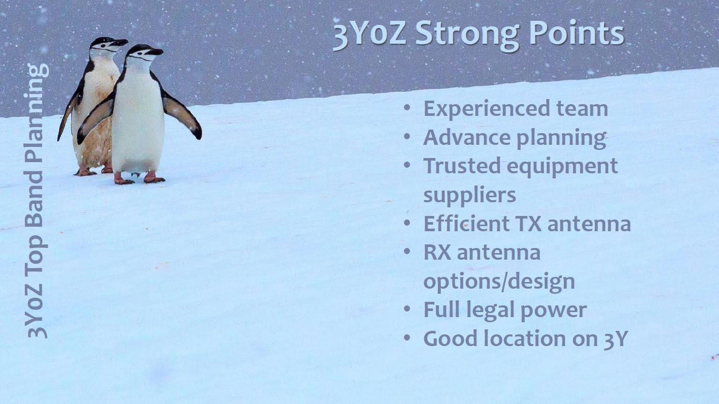 3Y0Z Bouvet Island DX Pedition Strong points