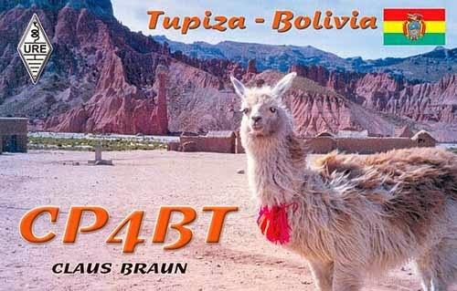 CP4BT Uyuni Bolivia QSL