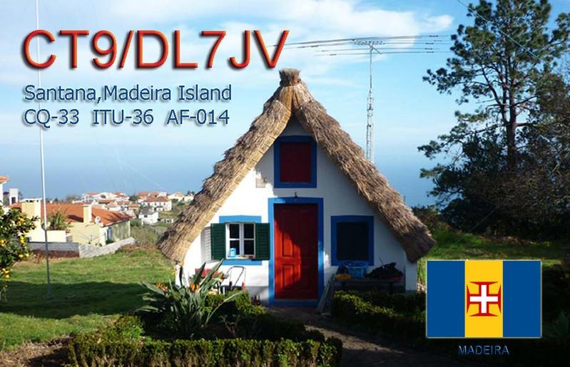 CT9/DL7JV Santana, Madeira Island QSL