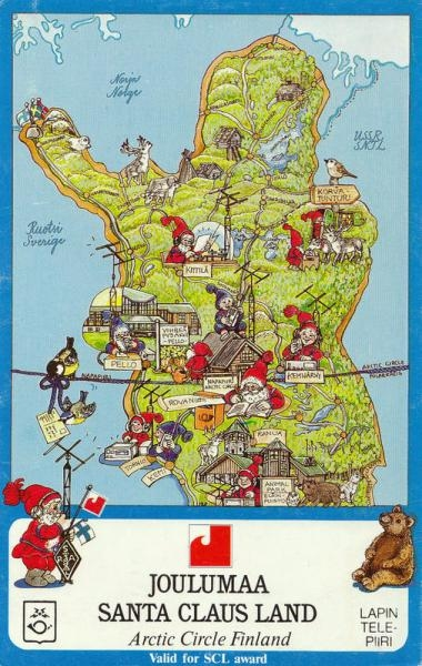 OH9SCL Finland Map of Santa Claus Land