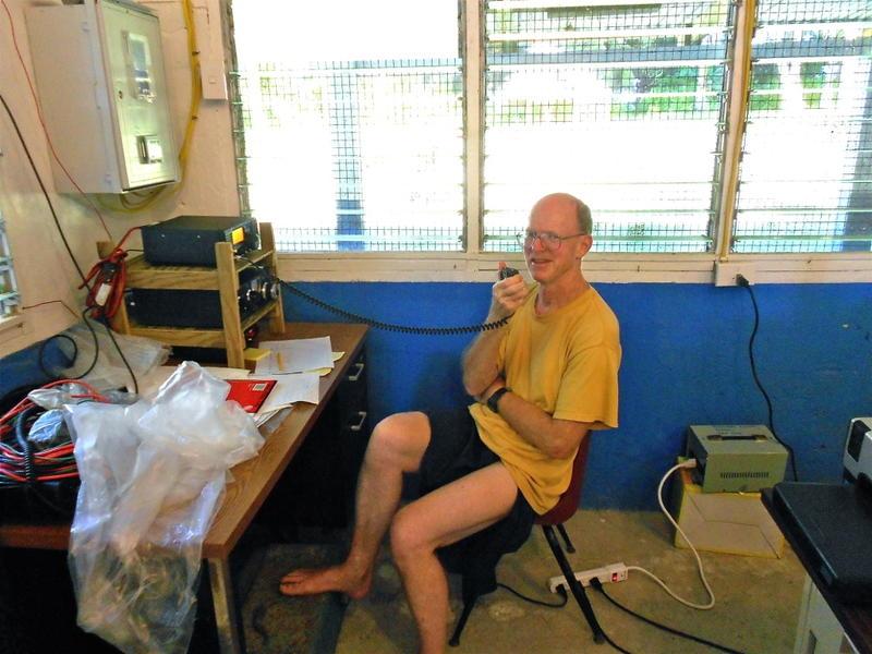 V63JB John Bush, Federai, Ulithi Atoll, Micronesia. Radio Room Shack