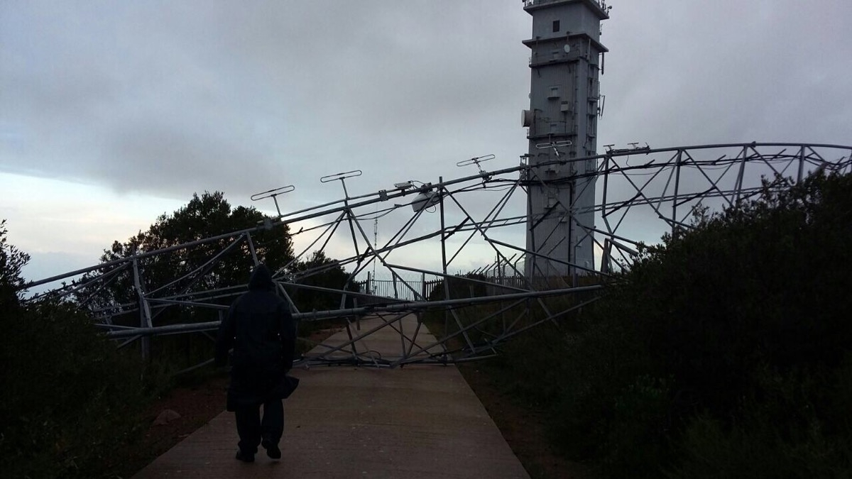 Cape Town Storm Ham Radio tower