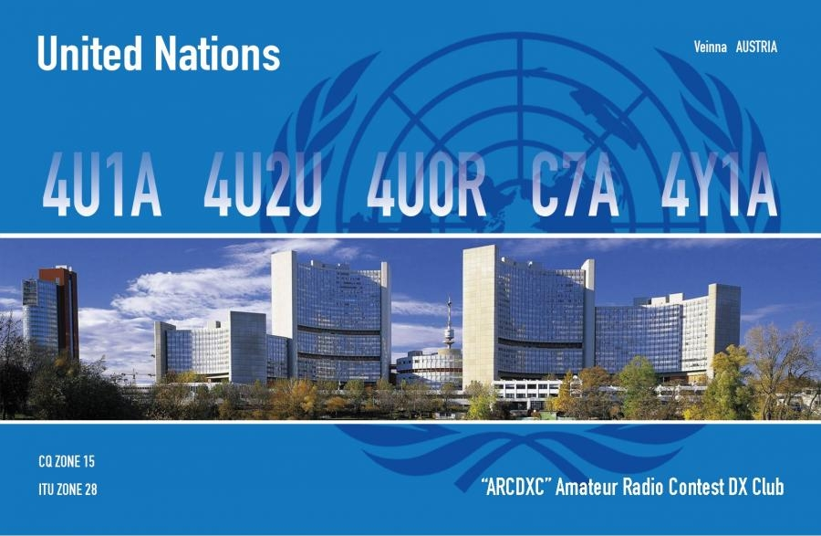 4U1A 4U2U 4U0R C7A 4Y1A QSL United Nations Vienna Amateur Radio Contest DX Club