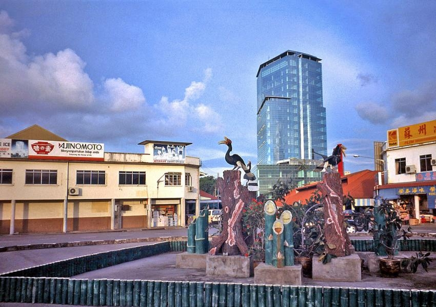 9M8K Hornbill statue, Miri, Sarawak, Malaysia