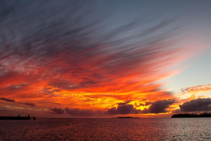 FK/F6DZR Sunset, Kuto Bay, New Caledonia