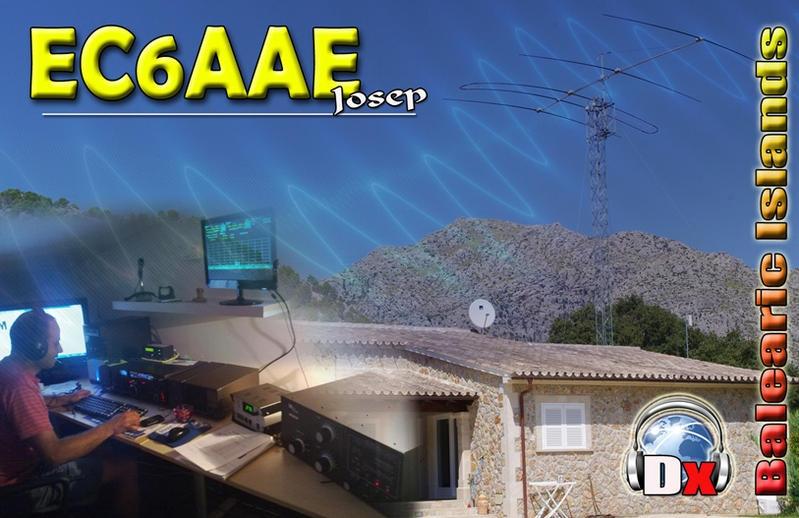 Josep Arbona EC6AAE Mellorca, Balearic Islands QSL