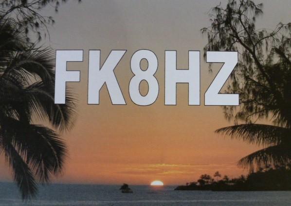 FK8HZ Maurice Bunel, Noumea, New Caledonia. QSL.