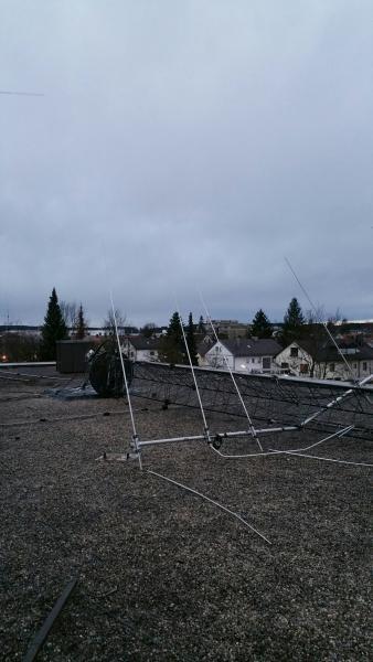 DL1A Contest Station Broken yagi antenna