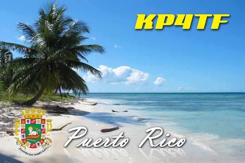 KP4TF Eddie Soltren QSL Aguadilla, Puerto Rico