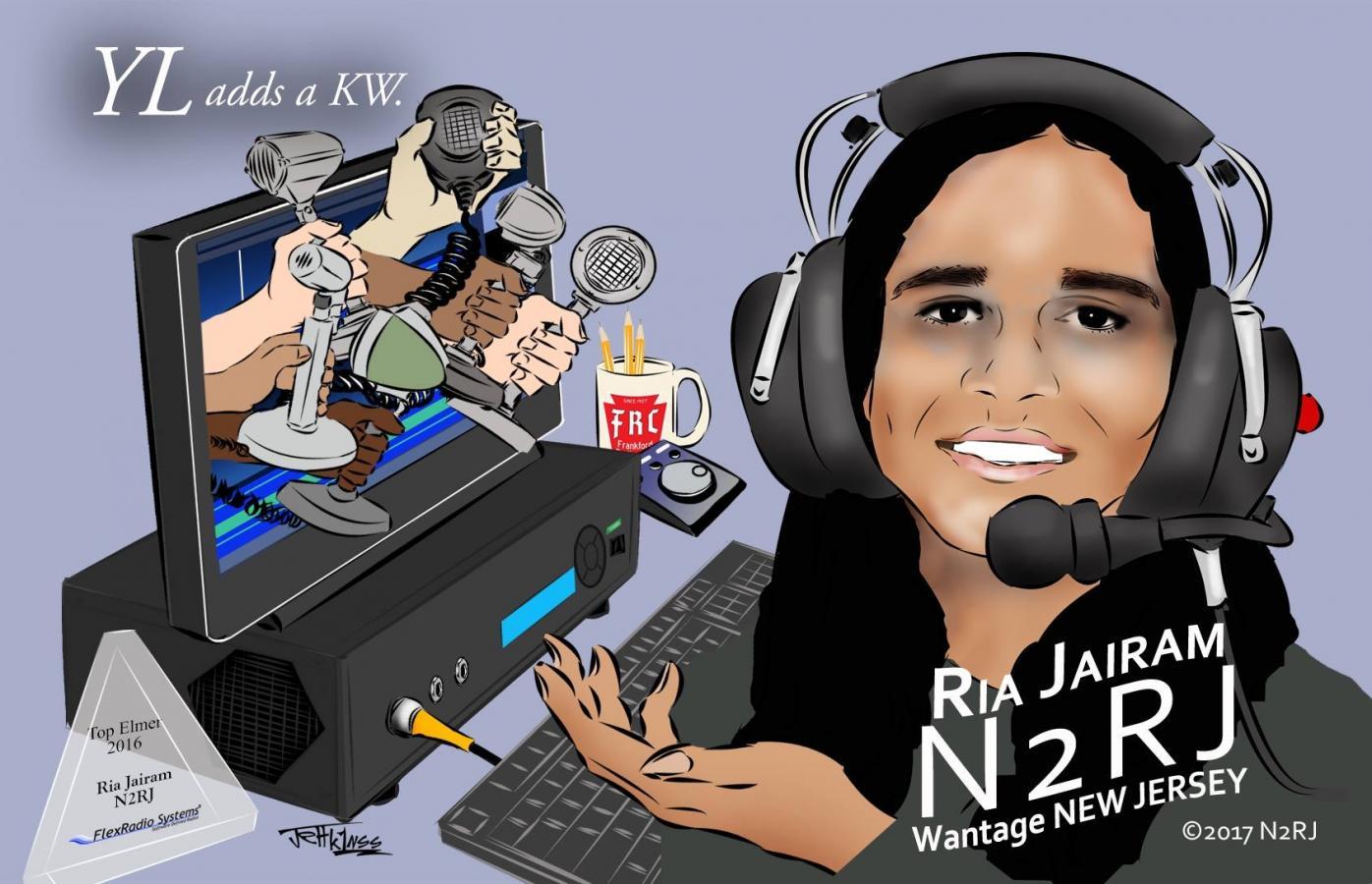 Ria N2RJ Cartoon K1NSS