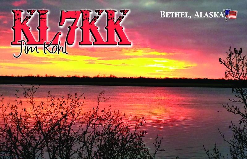 KL7KK James Kohl, Bethel, Alaska. QSL.