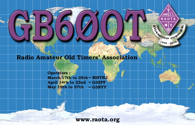 GB60OT Radio Amateur Old Timers Diamon Jubilee