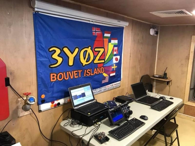 3G9A/MM 3Y0Z Bouvet Island Radio Room Shack